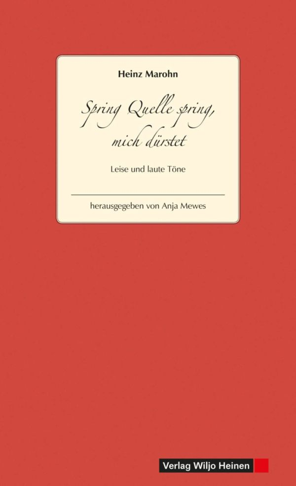 Cover: »Spring Quelle spring, mich dürstet«